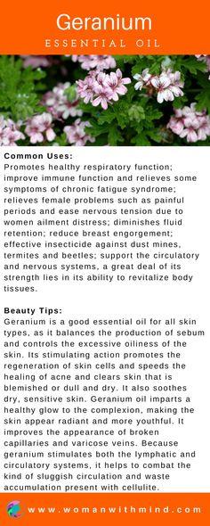 Geranium Essential Oil Guide & Application #essentialoils #diybeauty