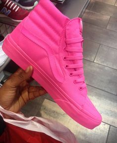 868c13546c08af Pink Hightop Vans
