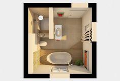 Grundriss 3D Badezimmer Planung