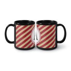 Kavka Coffee Mug Letter: K, Color: Black