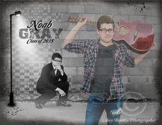 Senior Pictures - Guitar - Custom Collage