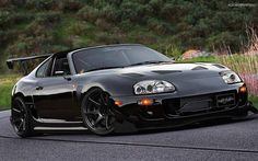 Toyota Supra with trd Widebody kit customized with many other body kit pieces.