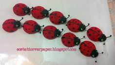 ecstatic over paper: two rows of ladybugs coming to visit you
