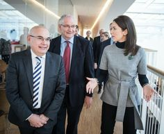 Crown Princess Mary of Denmark attended the 41st ESMO (European Society for Medical Oncology) Congress at the Rigshospitalet (Royal Hospital) in Copenhagen, Denmark. October 06, 2016. Crown Princess Mary style, Fashions, newmyroyals, wore dress, blouse and trousers, earrings, diamond royal wedding dress