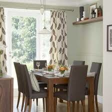 Neutral Soft Green And Brown Modern Dining Room