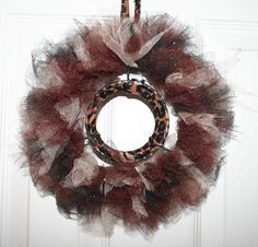 Brown Tulle Wreath