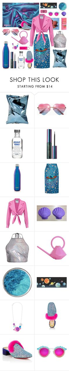 """Rock Your Lonely Heart #57"" by jingerz ❤ liked on Polyvore featuring Anya Hindmarch, Puma, S'well, Gucci, Moschino, Garden Glory, York Wallcoverings, Tatty Devine, Christian Louboutin and Frēda Banana"