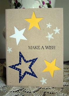 Wish upon a star...love this amuse studio star trio die set.  Using the reverse is fun too.