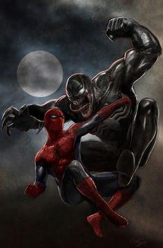 Spider-Man vs. Venom - galindoart.deviantart.com