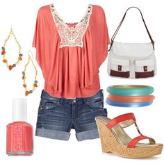 Summer time <3 In love with the shirt an purse!!!!!!