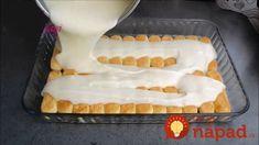 Zákusok pred výplatou – rýchly, lacný a výborný:10 minút na prípravu, žiadne pečenie a tromfne aj klasiku z kyslej smotany! Cake Recipes, Dessert Recipes, Desserts, Turkish Recipes, Homemade Beauty Products, Tiramisu, Tart, Waffles, Dinner Recipes