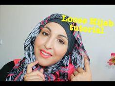 Loose hijab tutorial | Asma Make Up - YouTube