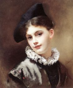 a coquetteish smile, gustave jean jacquet