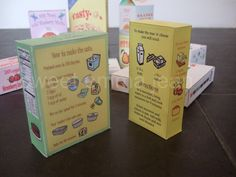 Personalized Play Food Groceries - DIY - PDFs. $10.99, via Etsy.