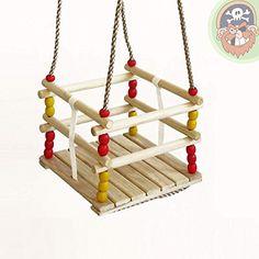 http://ift.tt/1Jf8Wpz Gitterschaukel Kleinkind Schaukelsitz Babyschaukel aus Holz von Gartenpirat @buyitolp%