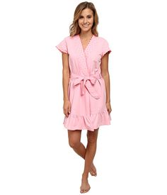 Betsey Johnson Heart Embroidered French Terry Robe
