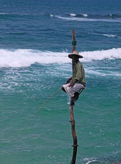 "Photo ""Stick Fisherman - Unique to Sri Lanka"" by uniquephotoarts"