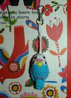 Elfi-Jo: FLOW & GRASPARKIET, #haken, gratis patroon, Nederlands, amigurumi, vogeltje, sleutelhanger, #crochet, free pattern, Dutch, bird, keychain