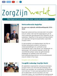 Nieuwsbrief nr 15: ❶ Werkconferentie RegioPlus ❷ Ledendag ZorgZijn Werkt ❸ Symposium Waarschuwingsregister   ❹  Toekomstwijzer ❺ Studiemiddag ouderenmishandeling