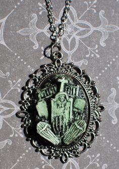 Halloween  Jewelry  Creepy Cute Gothic Necklace    by VonErickson