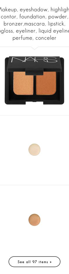 """""""Makeup, eyeshadow, highlight, contor, foundation, powder, bronzer,mascara, lipstick, lipgloss, eyeliner, liquid eyeliner, perfume, conceler"""" by sarah82469 ❤ liked on Polyvore featuring beauty products, makeup, eye makeup, eyeshadow, beauty, nars cosmetics, palette eyeshadow, mac cosmetics, mac cosmetics eyeshadow and too faced cosmetics"""