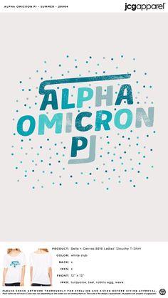 Alpha Omicron Pi Summer Shirt | Sorority Summer Shirt | Greek Summer Shirt #alphaomicronpi #aopi #aoii #aop #Summer #Shirt #dots Alpha Omicron Pi, Custom Design Shirts, Sorority And Fraternity, Summer Shirts, Bella Canvas, Colorful Shirts, Screen Printing, Greek, Dots