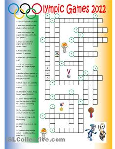Olympic Games Crossword