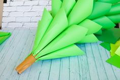Giant Ombre Paper Cone Christmas Trees - a DIY Tutorial and How-To - Frog Prince Paperie Christmas Trees In House, Ombre Christmas Tree, Grinch Christmas Tree, Diy Paper Christmas Tree, Christmas Garden Decorations, Christmas Hallway, Christmas Time, Christmas Crafts, Merry Christmas