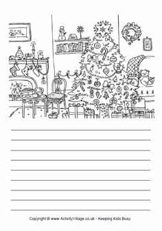 Use this lovely picture of a Christmas room to spark some creative or descriptive writing. Christmas Trees Story, Christmas Writing, Christmas Love, Christmas Pictures, Christmas Crafts, Writing Skills, Writing Prompts, Bujo, Picture Composition