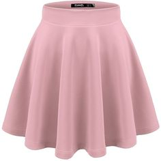 Thanth Womens Versatile Stretchy Pleated Flare Skater Skirt ($9.97) ❤ liked on Polyvore featuring skirts, peach skirt, stretchy skirt, knee length pleated skirt, circle skirts and stretch skirts