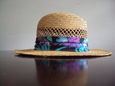 Vintage 1980's Panama Jack Tropical Hawaiian Hat. $24.00, via Etsy.