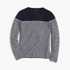 Collection cashmere long-sleeve T-shirt in stripe : Patterned | J.Crew