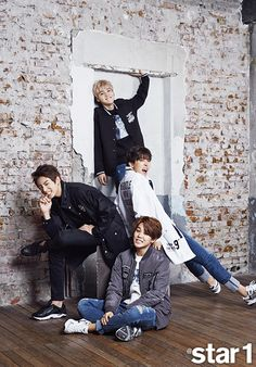 Suga, J-Hope, Jimin, and Jungkook- Star 1 Magazine