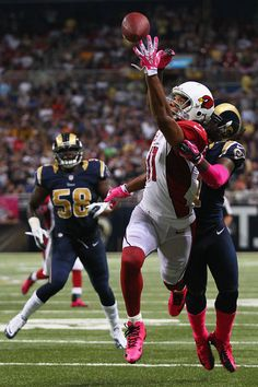 Larry Fitzgerald Photo - Arizona Cardinals v St Louis Rams