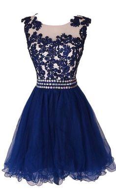 Navy Blue Short Homecoming Dress, #homecomingdress, #minipromdresses