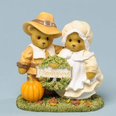 Cherished Teddies Thankful For Life's Blessing Thanksgiving Bear Figurine