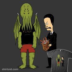 Cosmic Horror is Cool | Shirtoid #beavisandbutthead #cthulhu #hplovecraft #horror #pigboom #tvshow