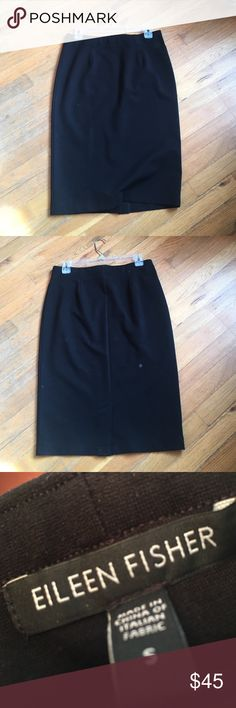 Eileen Fisher Skirt in black Black pencil skirt with small slit in the back. The perfect skirt! Have two to sell, priced individually. Eileen Fisher Skirts Pencil