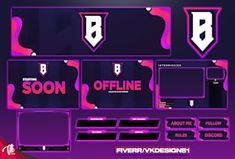 Design twitch facebook you tube overlay for you by Nrbdesign Logo Maker App, Logo Maker Free, Free Logo, Let It Out, Give It To Me, Logo Outline, Minecraft Banners, Twitch Channel, Design Fields