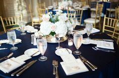 Country Club of the South - ring shot and wedding details - soft, blush pink and navy wedding details - vintage silver wedding details for table centerpieces