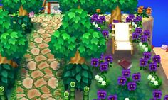 Dewdrop: 5D00 0011 93B2 Acnl Paths, Motif Acnl, Ac New Leaf, Happy Home Designer, Animal Crossing Qr Codes Clothes, Nature Aesthetic, All About Animals, Animal Games, Nature Tattoos