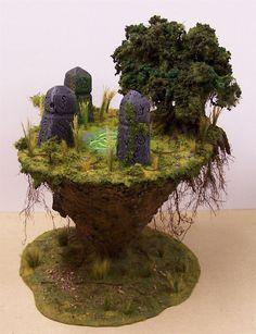 Hobby Terrain, Table top gaming, John Salmond, Terrain Tutorial, Circle Orboros, Floating Earth, Sacred Ground