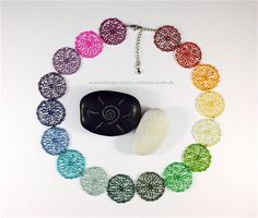 statement wire crochet BLOSSOM necklace/choker - choose color!