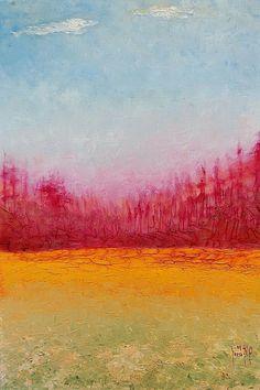 El valle con flores. Oleo sobre Macocel.  60x40cms. 2009. Jesús Martínez.