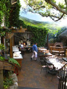 patio at the Hog's Breath Inn Restaurant in Carmel, California