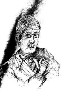 mr marian Hergouth, James Joyce drawing James Joyce, Portrait, Drawings, Artist, Artwork, Fictional Characters, Canvas, Drawing S, Work Of Art