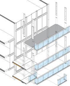 los módulos prefabricados tienen 7,50 m de longitud, la totalidad del frente de fachada por vivienda.