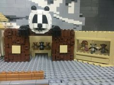 Panda Lego Zoo, Lego Animals, Lego Projects, Lego Building, Legos, Fun Stuff, Panda, Buildings, Creatures
