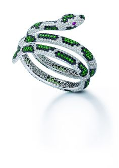 2013 Centurion 'Diamond Fashion Award' winning Unique Cobra Bangle by Roberto Coin Snake Jewelry, Animal Jewelry, Fine Jewelry, New Jewellery Design, Snake Ring, Snake Bracelet, Fashion Jewelry, Women Jewelry, Roberto Coin