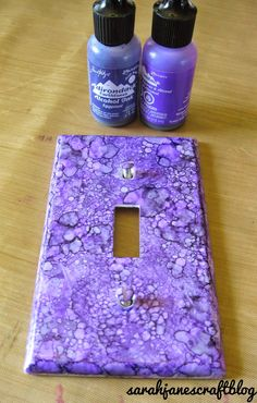 Sarah Jane\'s Craft Blog: Alcohol Ink Switch Plates